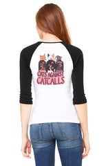 Cats Against Catcalls Baseball Shirt