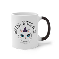 Resting Witch Face Color Changing Mug