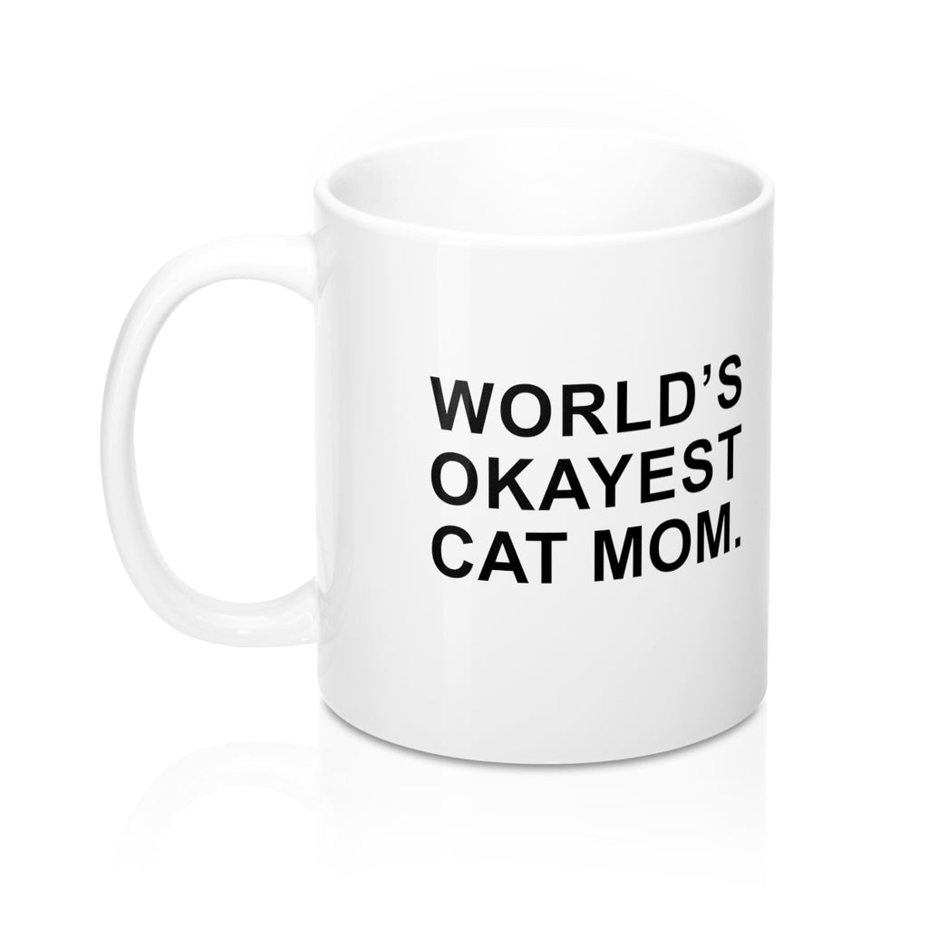 World's Okayest Cat Mom Mug