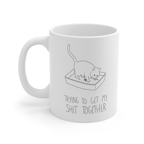 Shit Together Cat Mug
