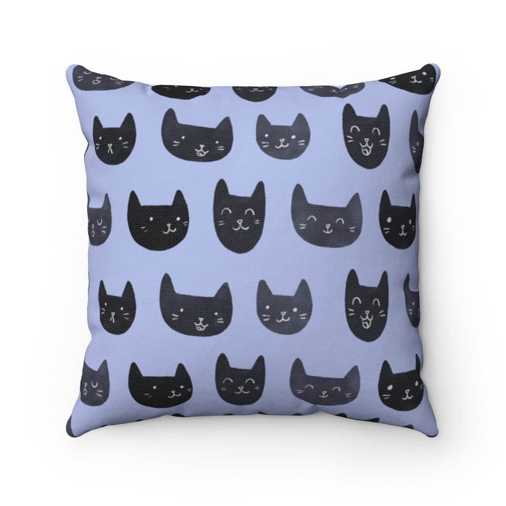 Cat Face Toss Pillow