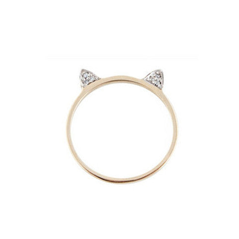 Diamond Cat Ears Ring