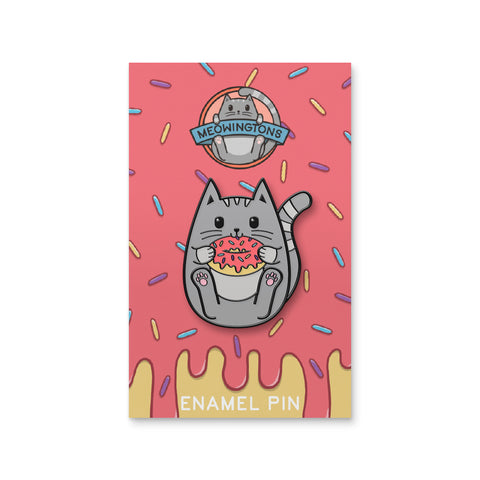 Donut Worry, Be Happy Cat Pin