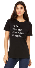 Eat, Sleep & Pet Cats T-Shirt