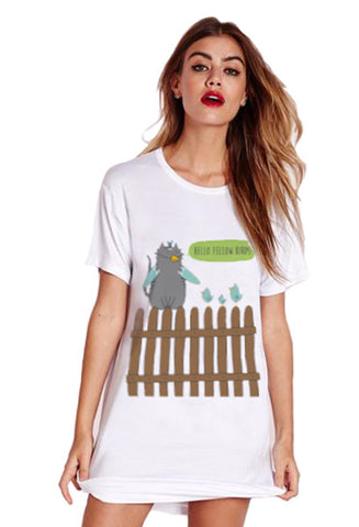 Oversized Cat Pajama T-Shirt