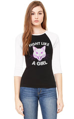 Fight Like a Girl Baseball Shirt