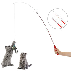 Extendable Fishing Pole Cat Toy