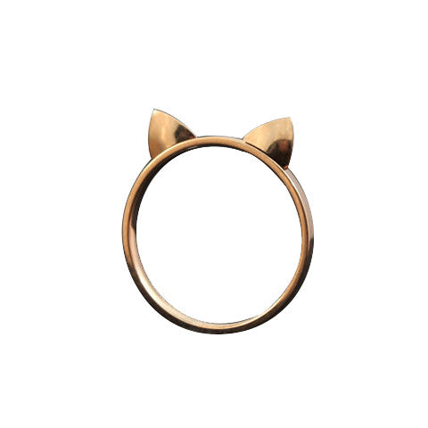 Ring In Kaars.Lucky Cat Ears Ring Meowingtons