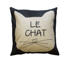 Le Chat Toss Pillow Case - Cat Themed by Meowingtons