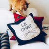 Le Chat Toss Cat Pillow Cover