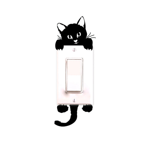 Cat Light Switch Sticker