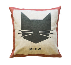 Meow Throw Pillow Cover