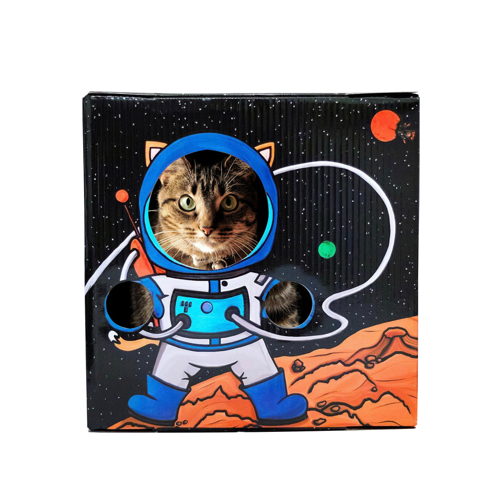Meow-ter Space Cardboard Cat Box