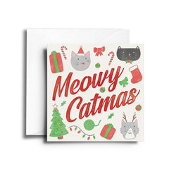 Christmas Cat Greeting Cards
