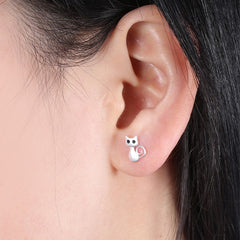 Modest Cat Earrings