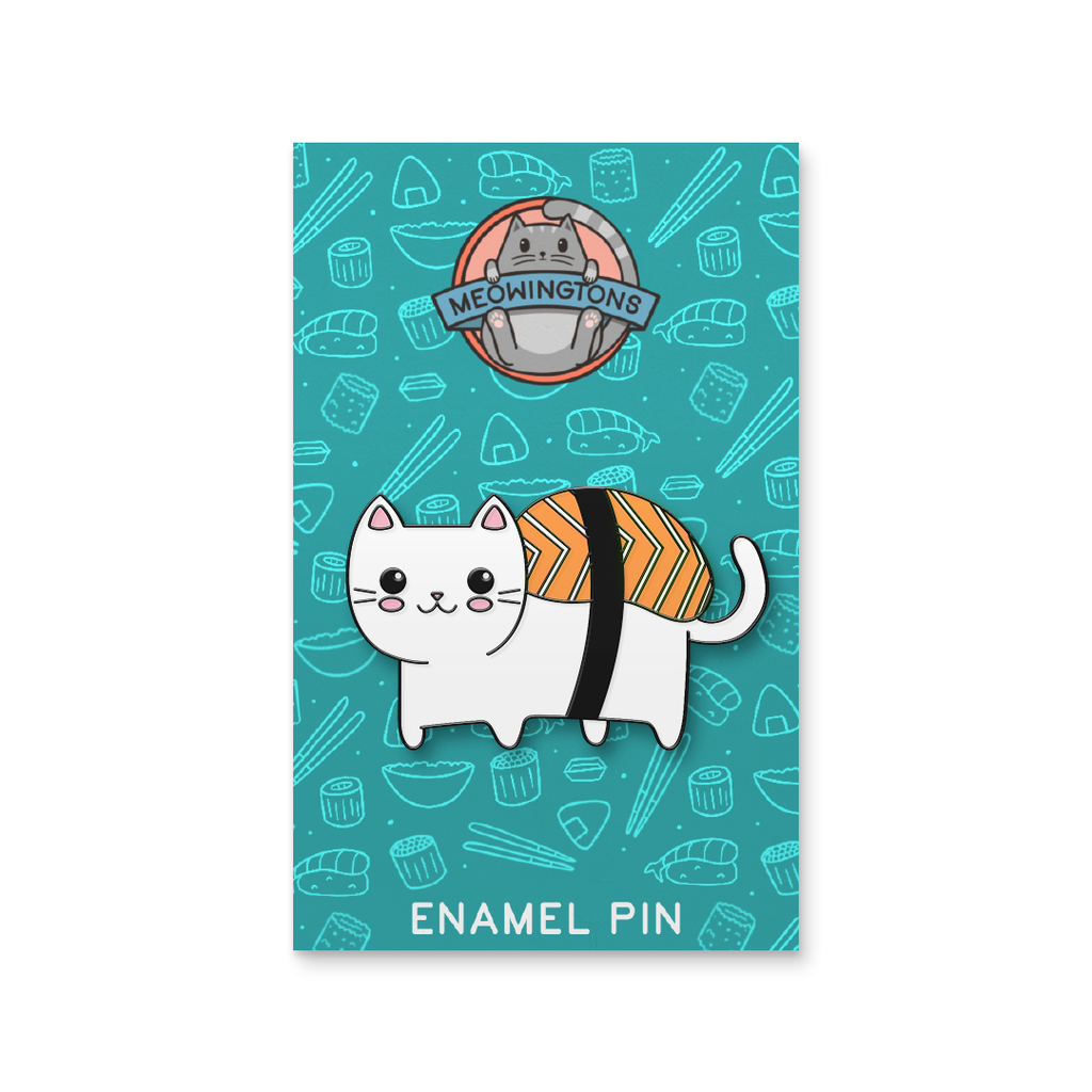 Nigiri Sushi Cat Pin