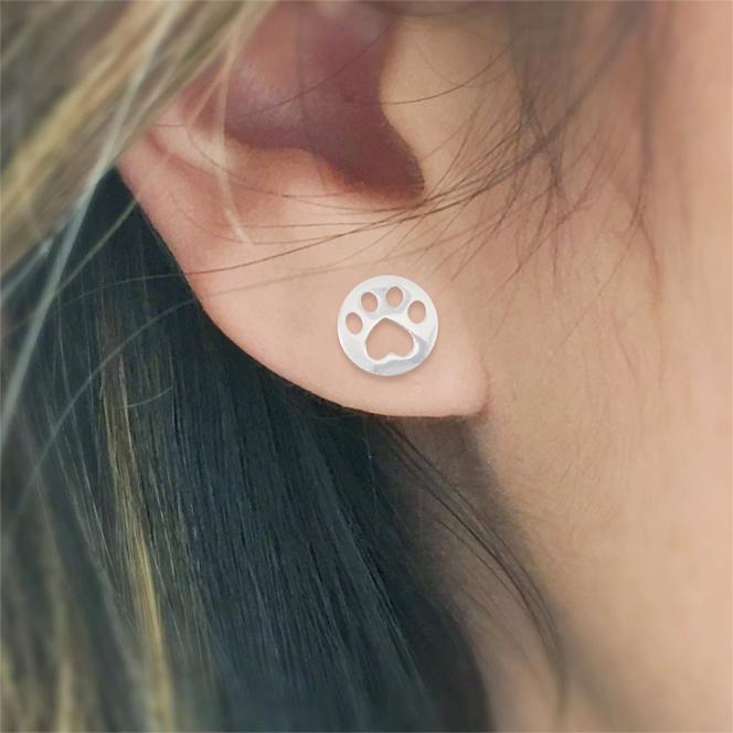 Heart Paw Print Cat Earring by Meowingtons