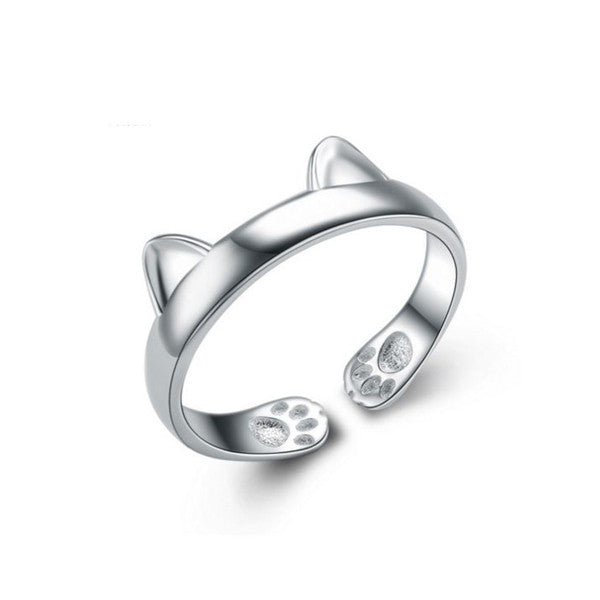Ring In Kaars.Paws And Ears Cat Ring