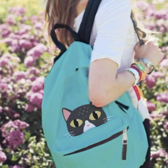 Peeking Cat Backpack
