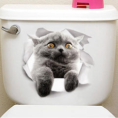 Toilet Lid Cat Decal