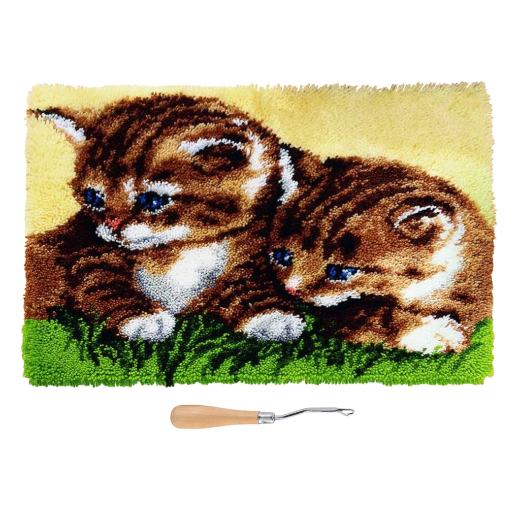 DIY Latch Hook Kitten Rug Kit