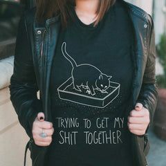 Shit Together Cat T-Shirt