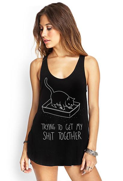 Shit Together Racerback Tank Top