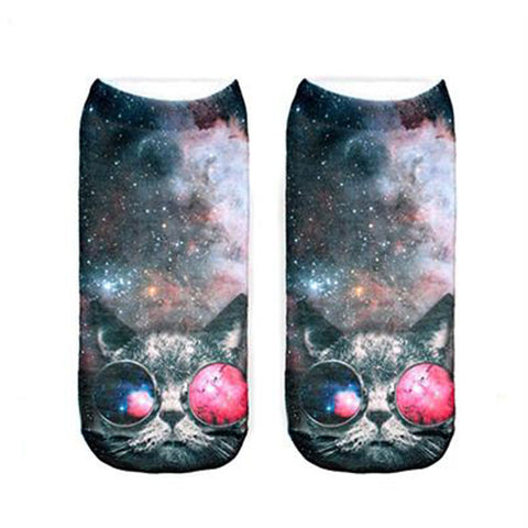 Space Cat Socks