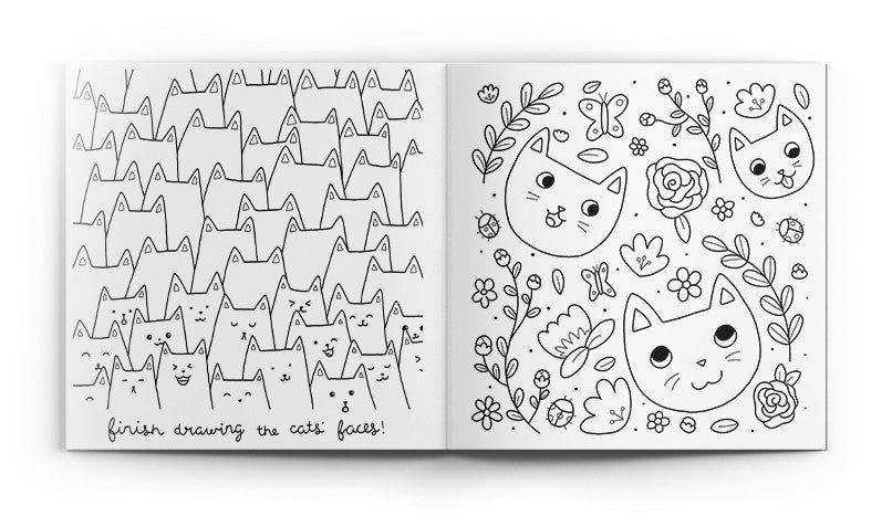meowingtons cat coloring book - Cat Coloring Books