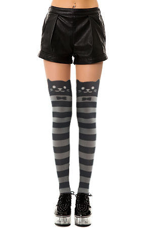 Striped Knee High Catyhose