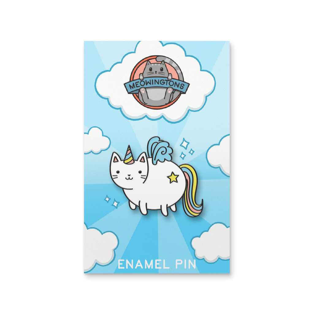 Chubby Unicorn Cat Pin