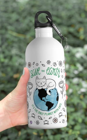 Save the Earth Reusable Water Bottle