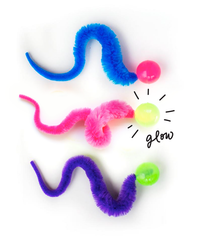 3 Pack Glow-in-the-Dark Wiggly Ball