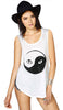 Yin Yang Cat Top