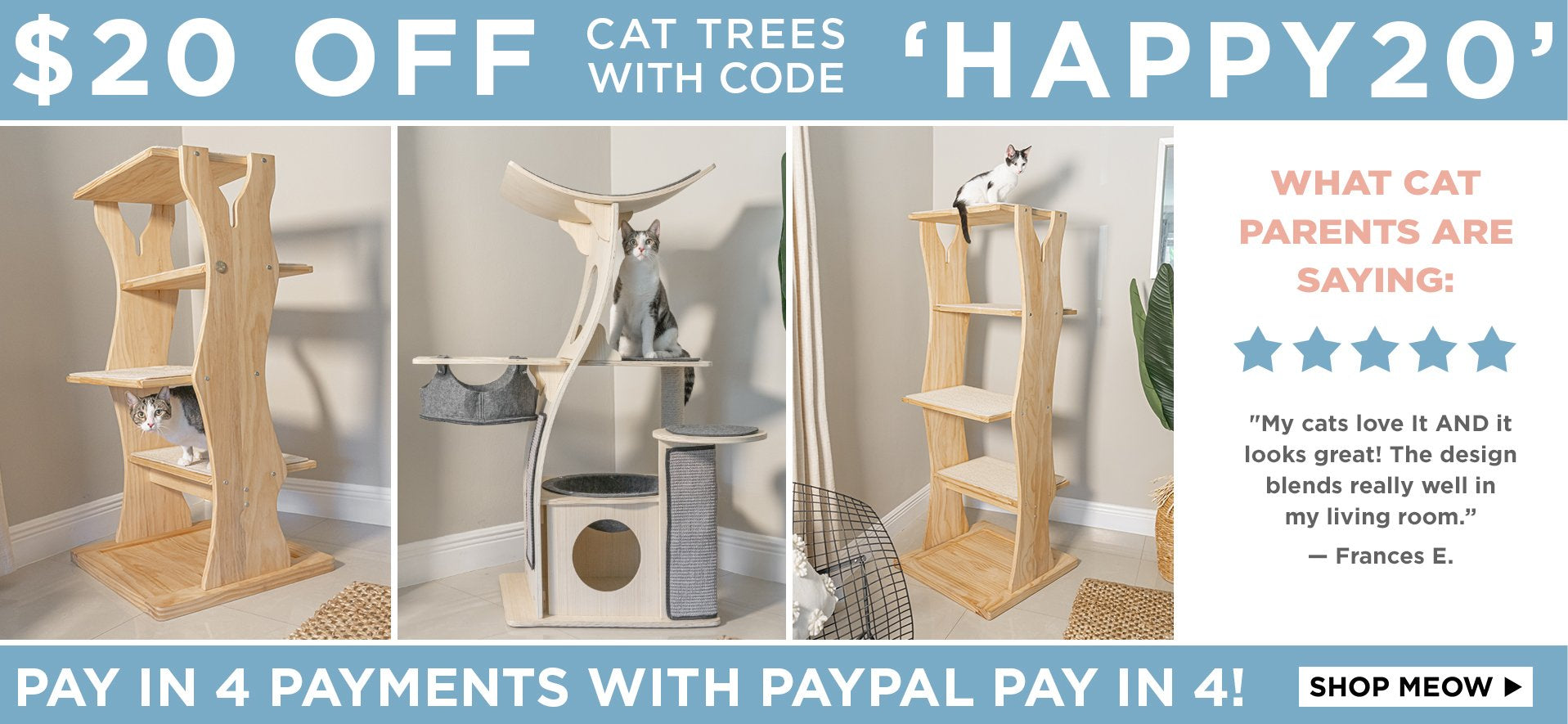 Shop Natural Wood Modern Cat Trees