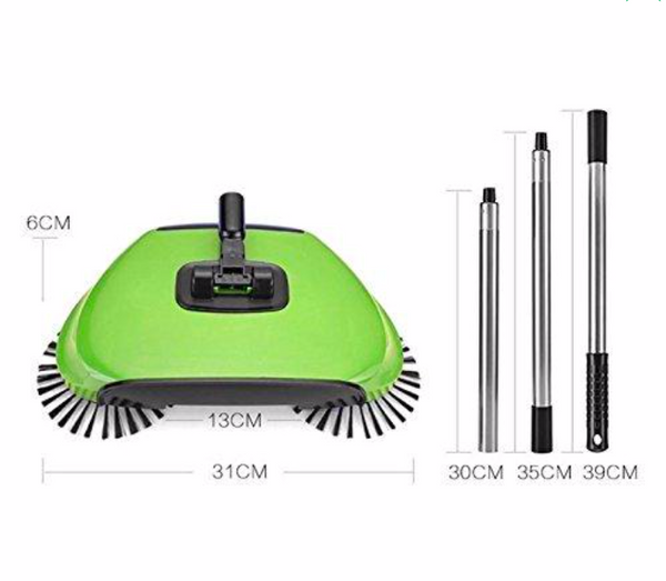 360° rotary vacuum broom