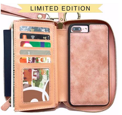 Wallet with magnetic phone case