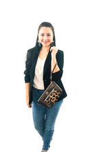 Load image into Gallery viewer, Shades of Brown Chain Faux Leather Crossbody Bag