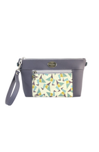 Load image into Gallery viewer, Lavender Purple Chain Faux Leather Crossbody Bag