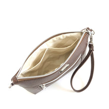 Load image into Gallery viewer, Chestnut & Ivory Chain Faux Leather Crossbody Bag