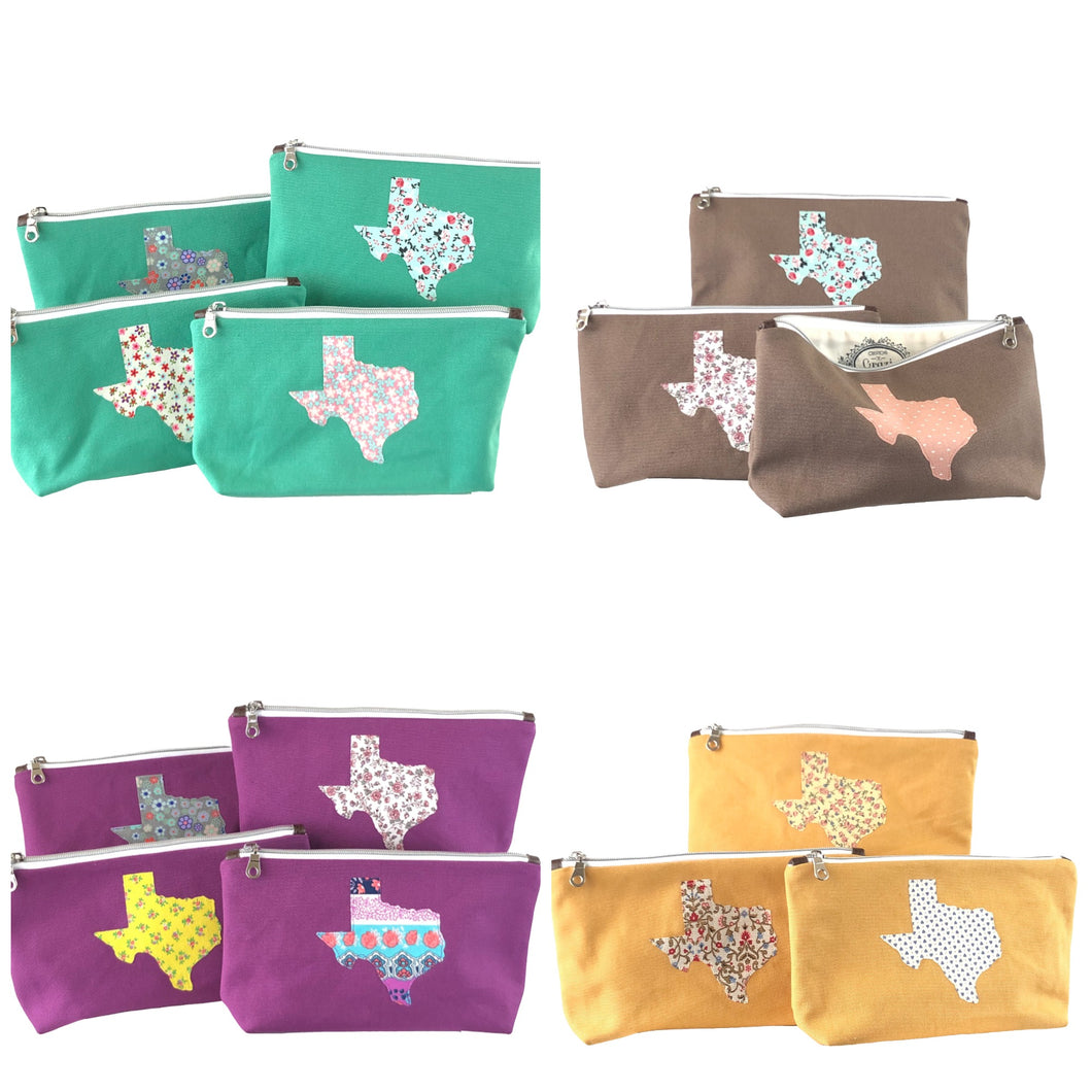 Texas Collection Makeup Pouch