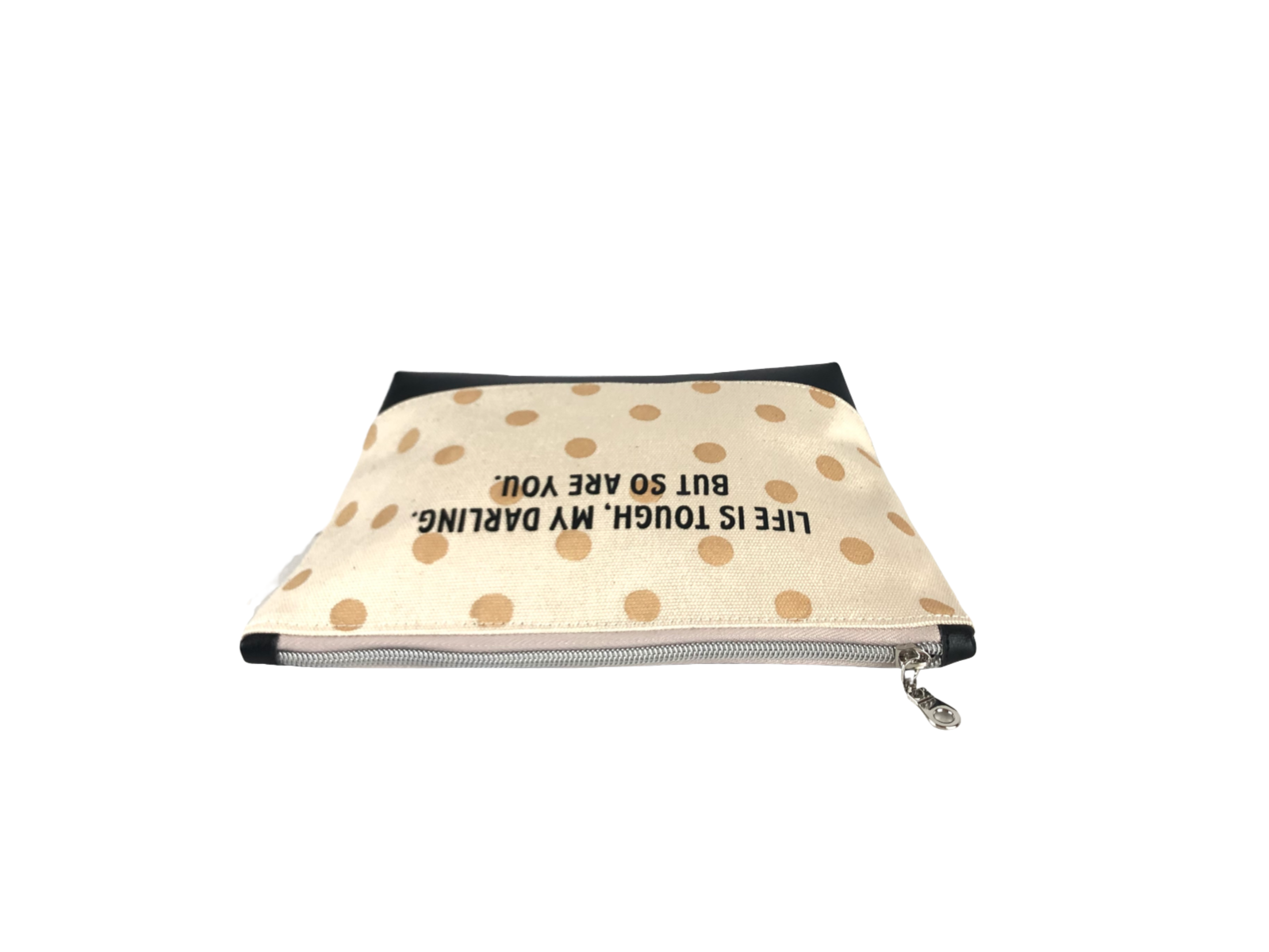 Inspirational Canvas Pouch - Life is tough, my darling, but so are you