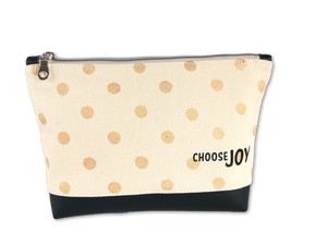 Inspirational Canvas Pouch - Choose Joy