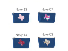 Load image into Gallery viewer, Texas Collection Makeup Pouch