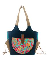Load image into Gallery viewer, Market Tote - Brave Kitty - ONEofaKIND Collection