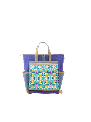 Convertible Travel Tote - Purple Feast - Part of ONEofaKIND Collection