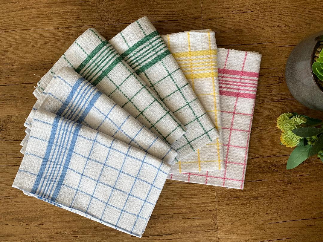 Kitchen Tea Towels Cotton Dish Cloths Bar Towels Multipurpose Cleaning 6 or 12pc