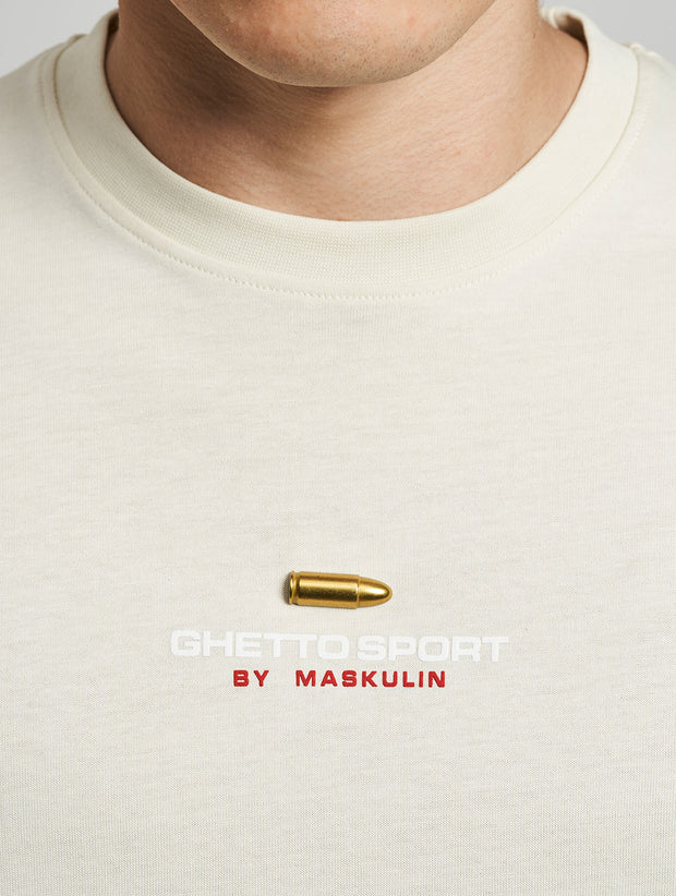 Maskulin 9mm Semi Auto T-Shirt Beige - Maskulin.de Shop