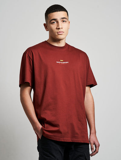 Maskulin 9mm Semi Auto T-Shirt Red - Maskulin.de Shop