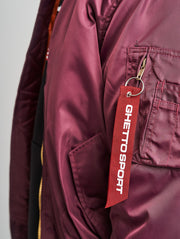 Maskulin GS Bomber Jacket Burgundy - Maskulin.de Shop